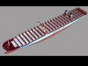 空集装船 港口 油船 油轮 货运船 港口 航母 巡洋舰   3d模型