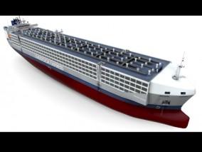 家畜货轮 动物货轮 生物运输 肉类进口 港口 商船 航母 军舰  3d模型