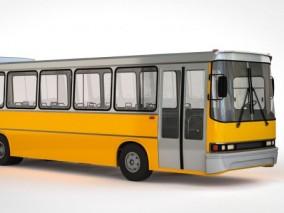 公交车 巴士 长途汽车 加长公交车现代公交车