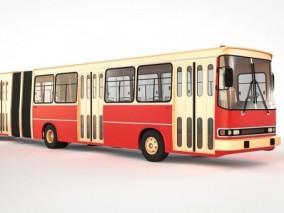 公交车 巴士 长途汽车 加长公交车现代公交车 城市公交车 3d模型