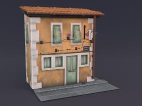 小房子  街边房子   旧房子 3d模型