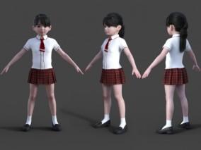 女儿童 校服装 幼儿园 学生 幼童 小女孩 女同学 写实