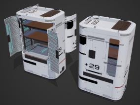 次世代 PBR 科幻储物柜 箱子 收纳柜 保险箱 保险柜 货柜 储藏柜 储存柜 武器柜 3d模型