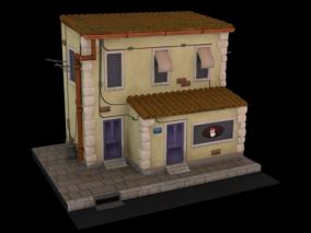 小房子  破旧房子   旧房子   街边房子 3d模型