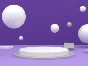 紫色电商陈美舞台横版
