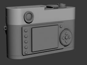 相机  单反 3d模型