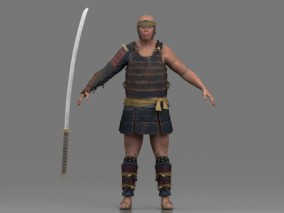 写实男人 倭寇 强盗 土匪 日本人 武士 浪客 杀手 古代男人  山贼 3d模型