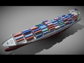 货轮 货船 油船 集装船 货运 集装箱 天然气船 港口 贸易 航母 军舰 3d模型