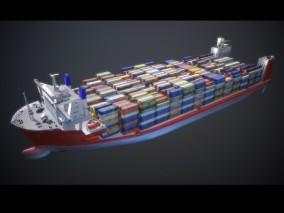 超级油轮 货船 油船 集装船 货运 集装箱 补给船 商船 液化气船 3d模型