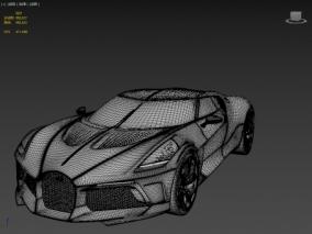 Bugatti La Voiture Noire 2019 FBX 跑车 3d模型