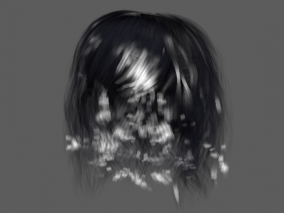 发型  短发 3d模型