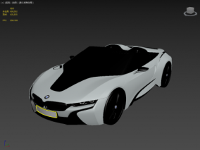 BMW i8 Spyder Concept 2012 FBX 3d模型 3d模型