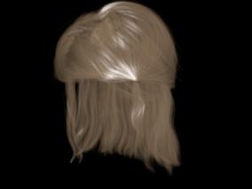发型   温婉女孩发型 3d模型