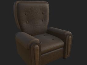 卡通沙发 家装家具 真皮沙发 皮革沙发 老家具 老式破旧沙发 3d模型