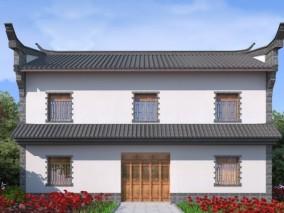 中式建筑3D模型