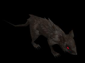 老鼠 耗子 黑死病 怪物 boss 魔兽世界争霸 魔物 手绘 小怪 鼠疫 魔幻 哺乳动物 3d模型