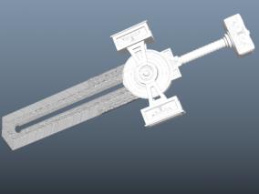 刀剑   器具  复古阙剑 3d模型