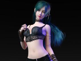 邪魅动人的女妖精 美女 性感女孩 3d模型