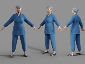 老奶奶 中老年人 老年女性 写实 3d模型