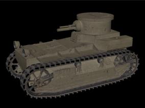 坦克 老式坦克 二战坦克 中型坦克 老式坦克 复古坦克 3d模型