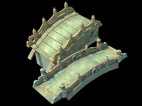 Q版 桥 古代桥 三渲二桥 3d模型