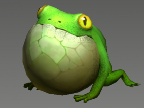 Q版 青蛙 旅行青蛙 小青蛙 可爱青蛙 3d模型