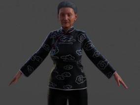 老奶奶 中老年人 老年女性 写实模型 3d模型