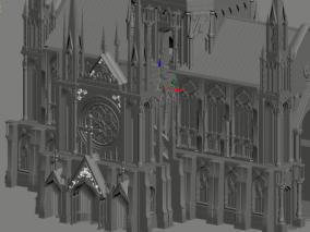 教堂 三渲二用 高模 影视动画