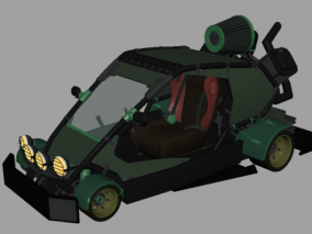 沙丘车 沙地车 沙滩越野车 四驱车 卡丁车 场地车 儿童超级赛车 3d模型