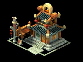 Q版 场景 小房子 房子