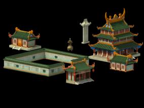 Q版场景 背景建筑 建筑 主建 3d模型
