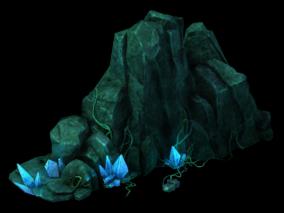 石头路 三渲二用 高模 3d模型