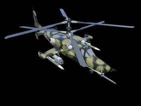 直升飞机 飞机 3d模型