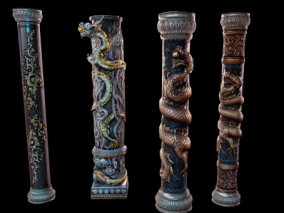 石柱 龙柱 柱子