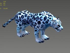 动物 雪豹 豹子 3d模型