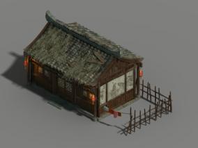 古代民居 古代建筑 高模 影视动画 3d模型