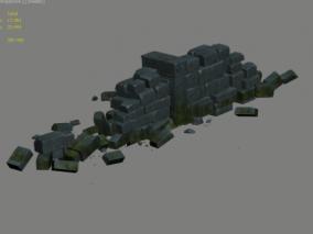 摧毁 石块 石墙
