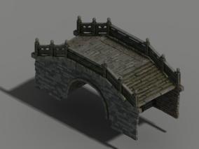 桥 古代桥 古桥 建筑 三渲二用 高模 影视动画 3d模型