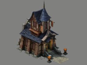 欧洲建筑 欧美古代建筑 建筑 三渲二用 高模 影视动画 3d模型
