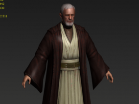 3D模型 老人