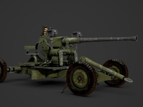 二战武器 移动大炮火炮