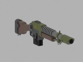 lowpoly卡通科幻武器 枪械 游戏 3d模型
