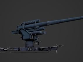 高射炮 3d模型