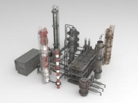 工厂油罐设备 3d模型