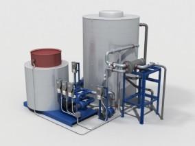 储水罐、蓄水桶、屋顶水箱 3d模型