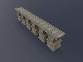 拱桥 古代建筑桥梁 石头桥 桥面 长石桥 青石桥 石头桥 3d模型