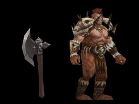 兽人狂战士 怪物 boss 魔兽世界 魔兽争霸 魔物 手绘 小怪 人型 魔幻 斧头