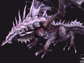 飞龙BOSS模型 骨龙 怪物 次世代 3d模型