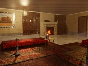 摩洛哥建筑   中东建筑   北非建筑   室内   水烟
