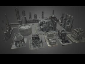 炼油厂 油罐 储油罐 储气罐 石油罐 液化气罐 石油井架 油气田 油罐区 核电站 加工厂 发电厂